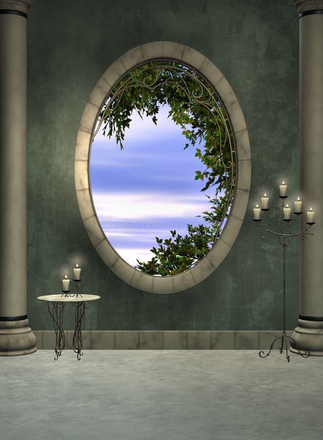 Foyer und Fenster stock abbildung
