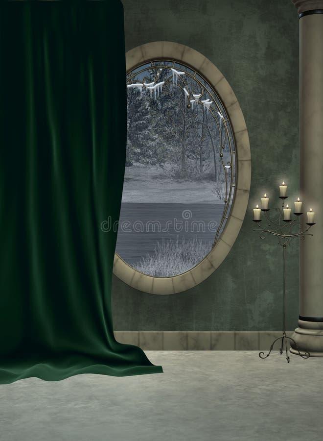 Foyer und Fenster lizenzfreie abbildung