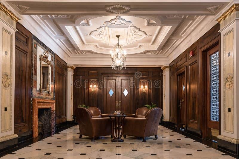 Foyer w art deco stylu obrazy stock