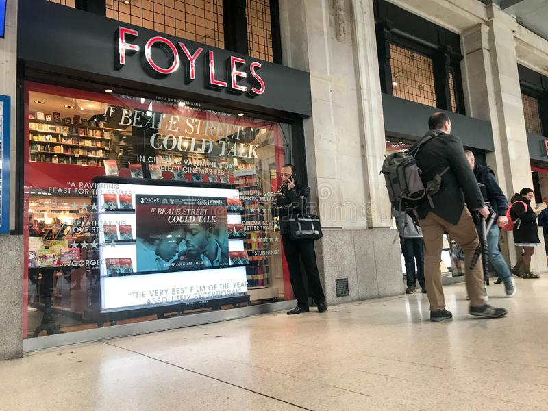 Foyles lager royaltyfri bild