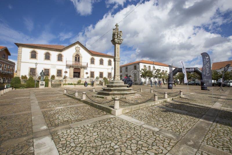 Foz Coa Municipality Building Portugal arkivfoto