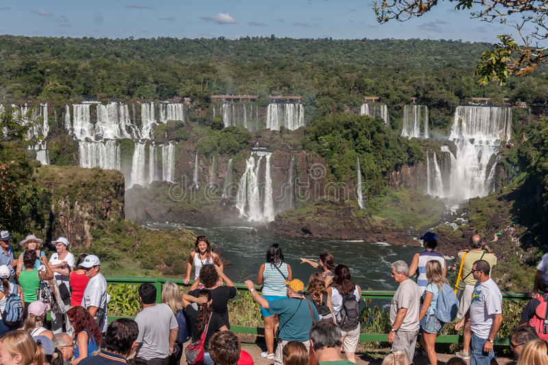 Foz Do Iguassu Falls Argentina Brazil Editorial Photo