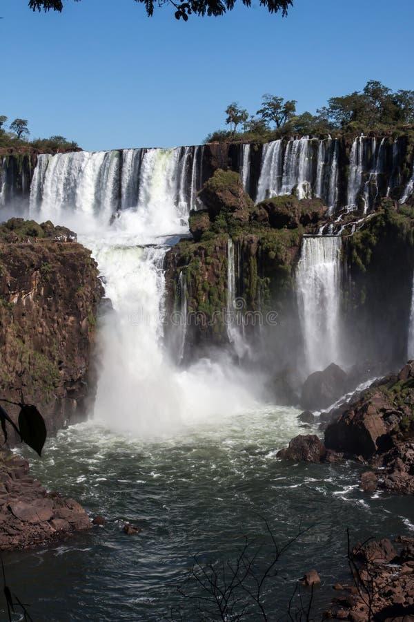 Foz fa Iguassu Argentina Brasile fotografia stock