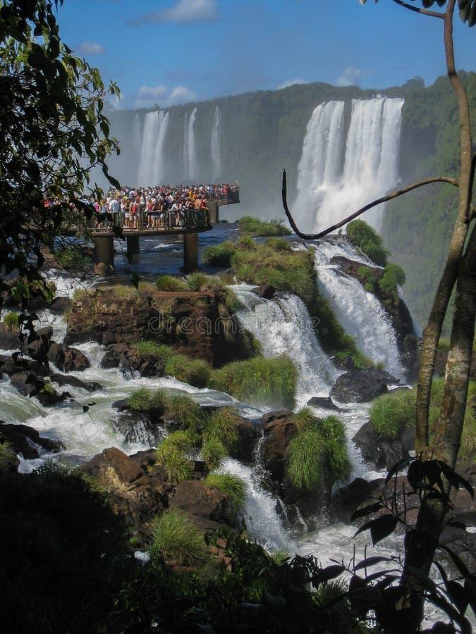 Foz fa le cadute Argentina Brasile di Iguacu immagine stock libera da diritti