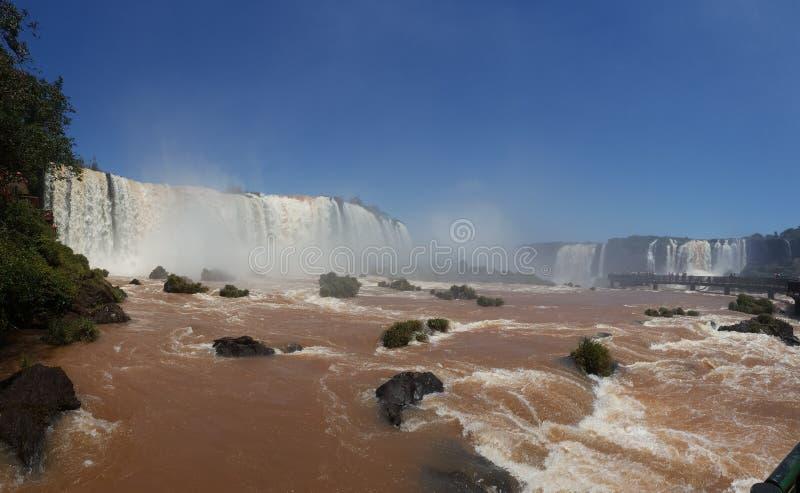Foz faz cachoeiras de Iguaçu fotos de stock royalty free