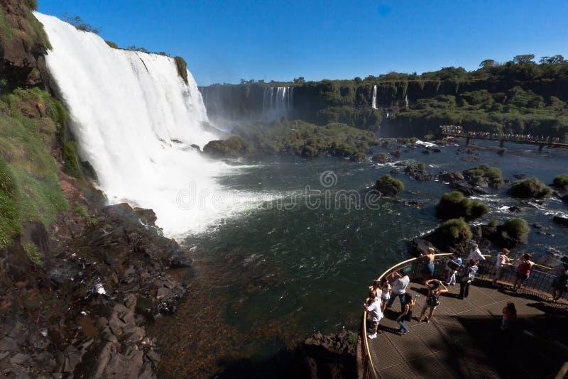 Foz font Iguassu Argentine Brésil photos libres de droits