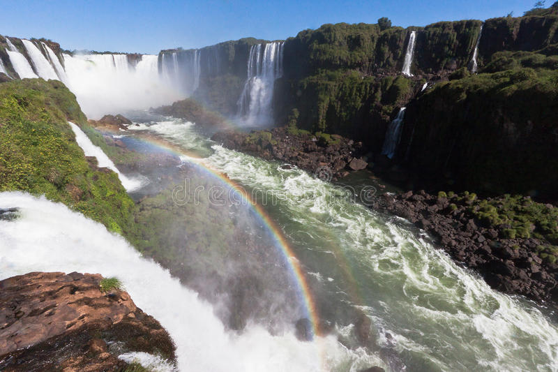Foz hace las caídas la Argentina el Brasil de Iguassu fotos de archivo
