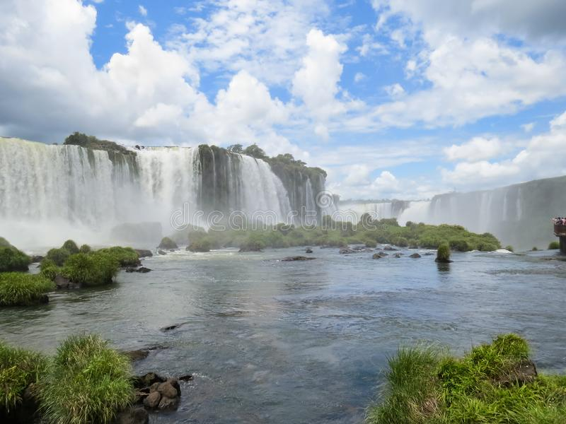 Foz robi Iguaçu, Brazylia, widok mgliści Iguassu spadki obrazy royalty free