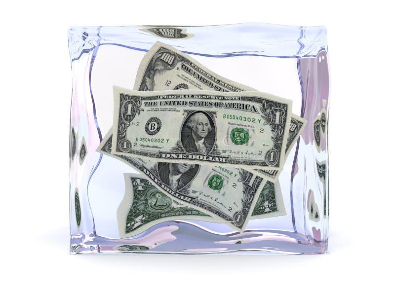 fozen деньги иллюстрация штока