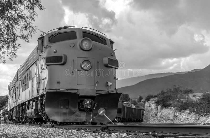 Diesel Locomotive FP7 on Verde Canyon Railroad stock photo
