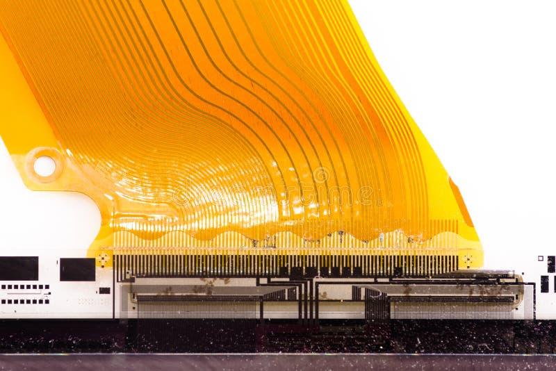 FPC connesso ad affissione a cristalli liquidi - particolare fotografia stock libera da diritti