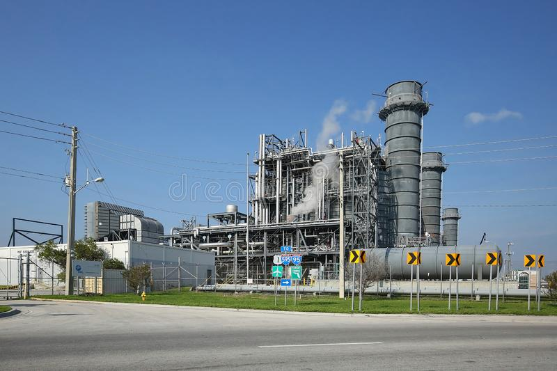 FPL, Florida Power & Light Power Plant royalty free stock images