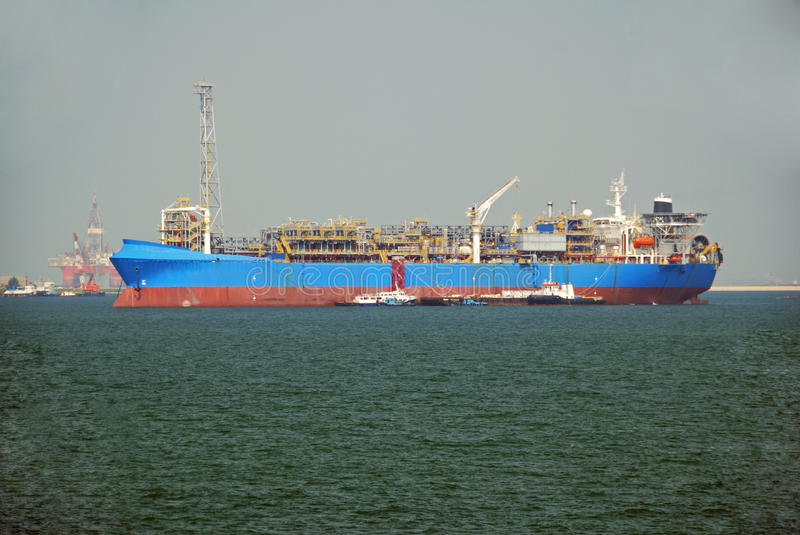 FPSO, Floating Production Vessel stock photography