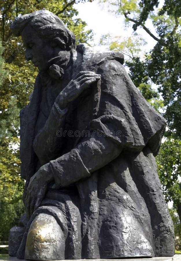 Frédéric肖邦的纪念碑约瑟夫Goslawski - Zelazowa Wola, Mazowieckie,波兰 免版税库存照片