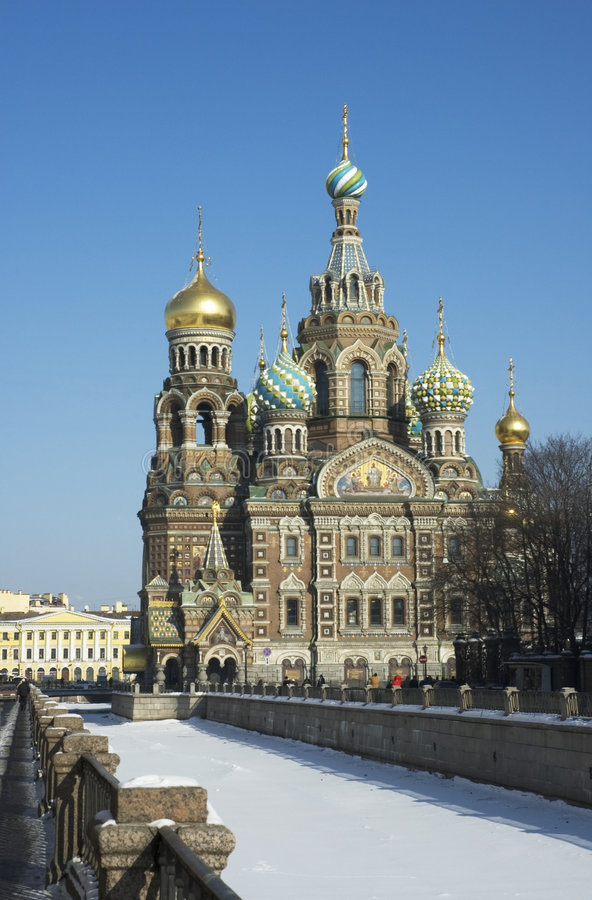 Frälsare på spillt blod, St Petersburg, Ryssland arkivfoton