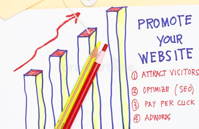 främja den din websiten arkivfoton