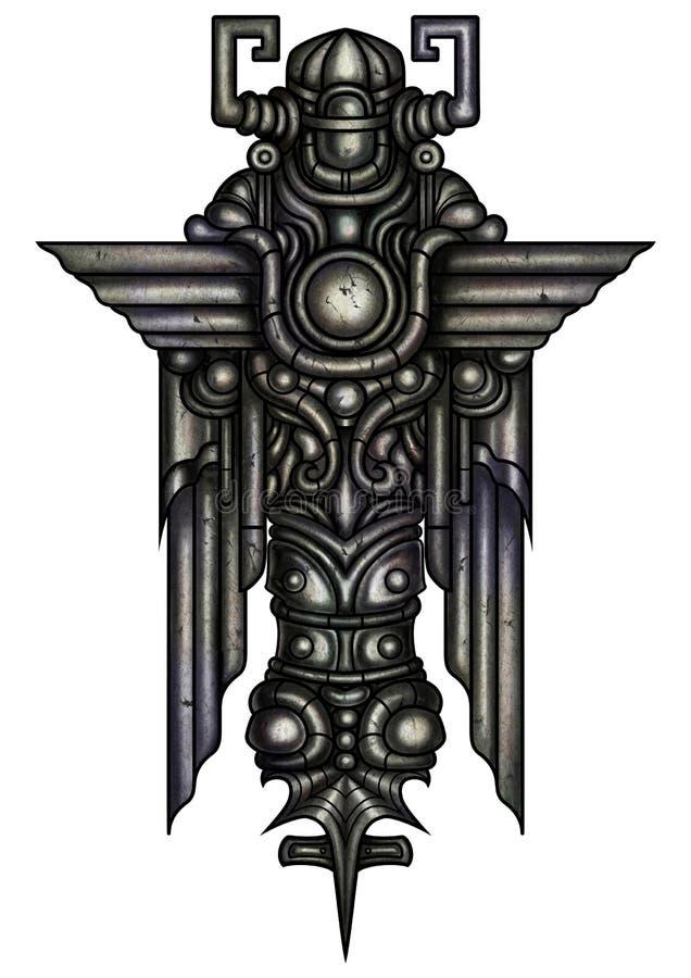 Främmande ängelskulptur royaltyfri illustrationer