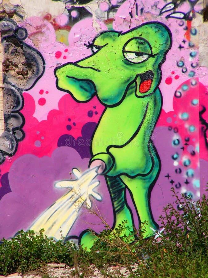 främmande grafittigreen arkivfoton
