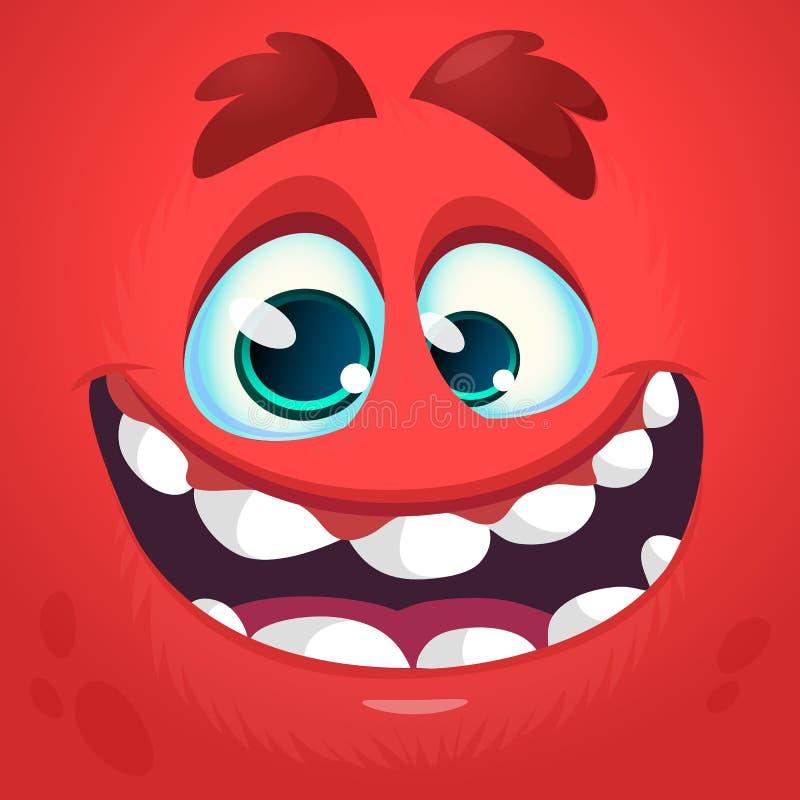 Främmande illustration för avatar för framsidatecknad filmvarelse royaltyfri illustrationer