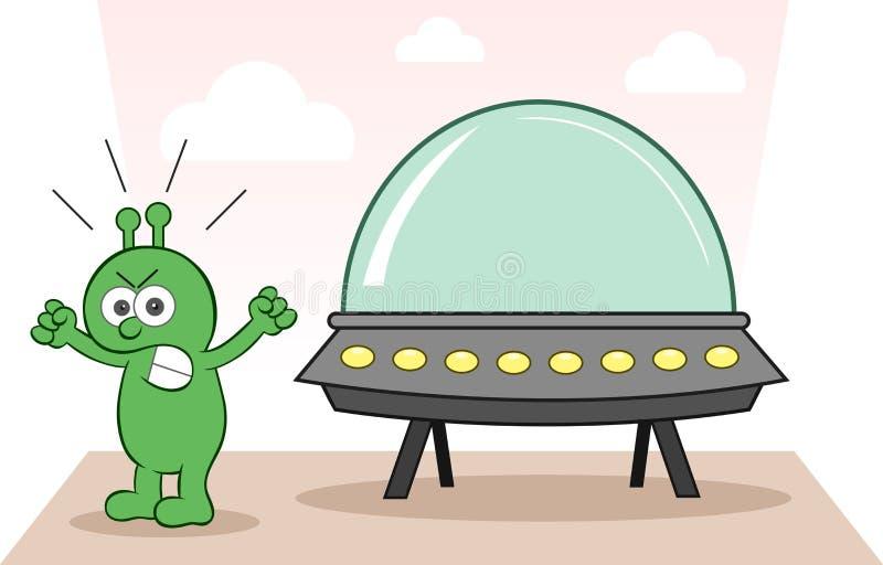 Främmande ilsket med rymdskeppet
