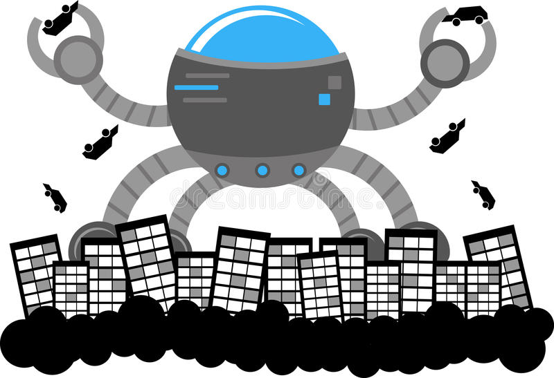 Främmande invasion vektor illustrationer
