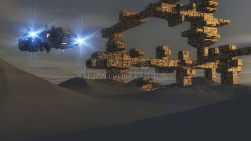 Främmande invasion stock illustrationer