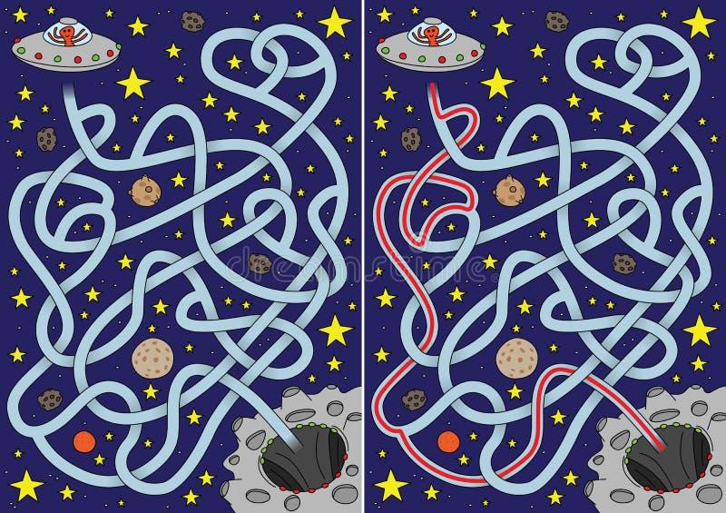 Främmande labyrint stock illustrationer