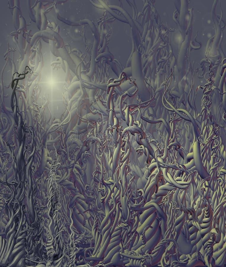 främmande miljö stock illustrationer