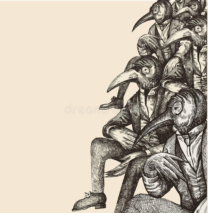 främmande opposition stock illustrationer