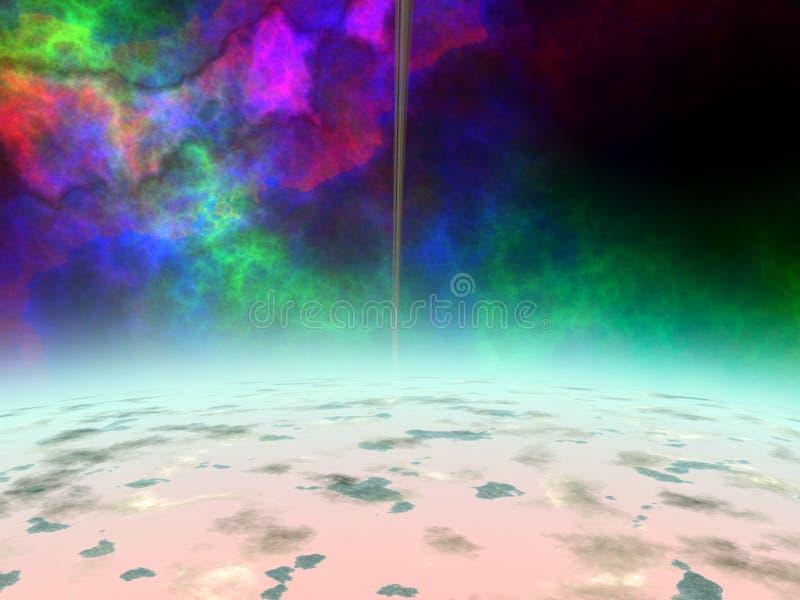Download Främmande planet stock illustrationer. Illustration av damm - 508877