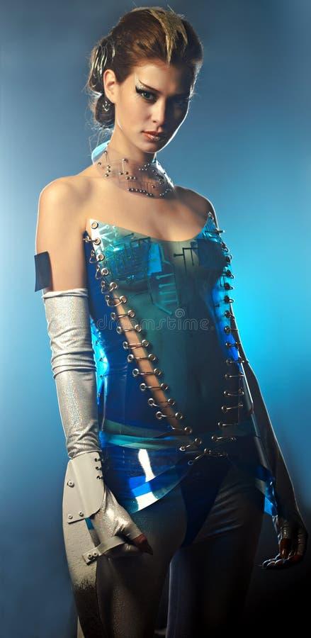 främmande skönhetkvinna royaltyfri fotografi