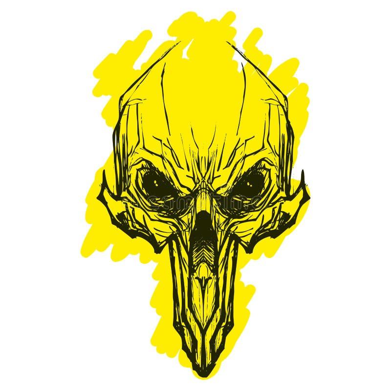 Främmande skul för tatoo vektor illustrationer