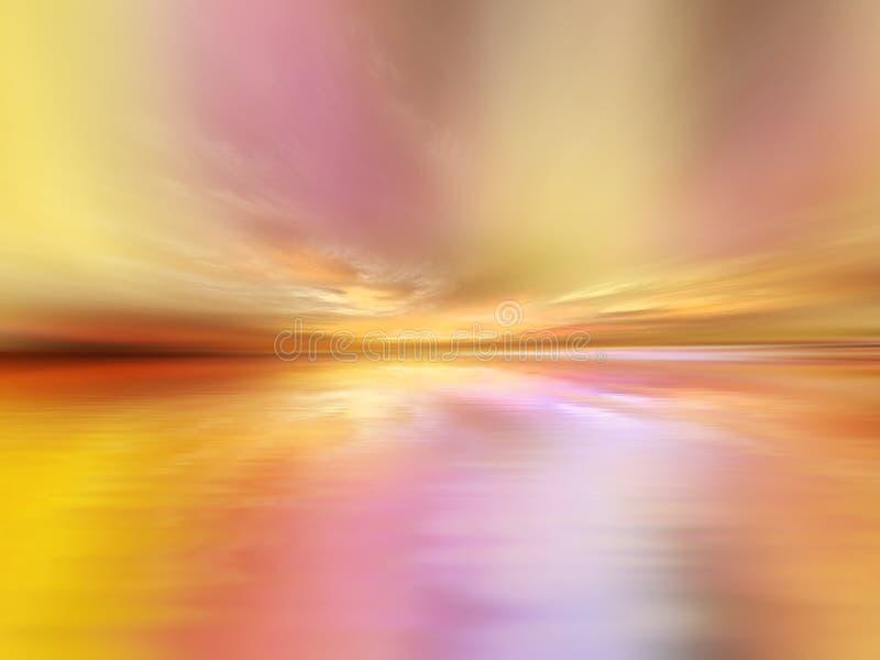 främmande soluppgång vektor illustrationer