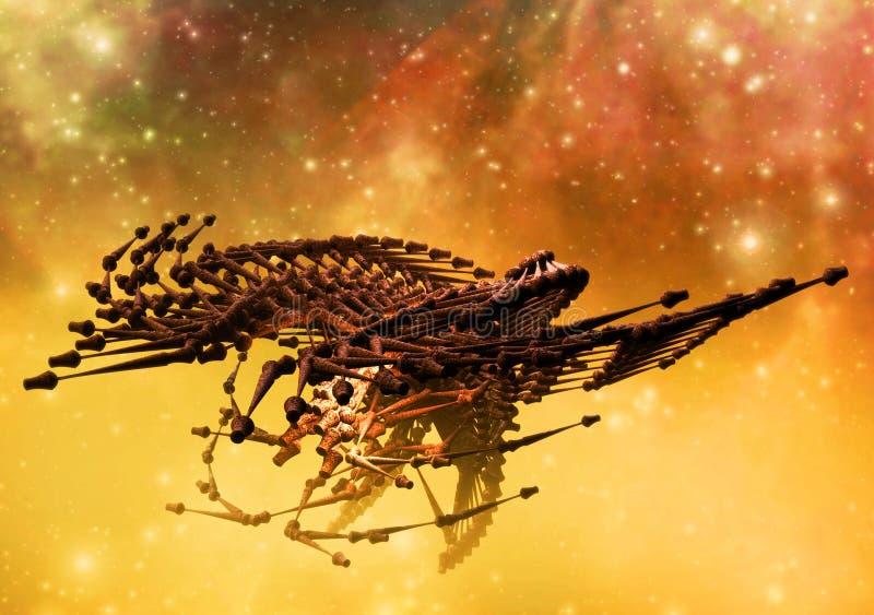 främmande spaceship stock illustrationer