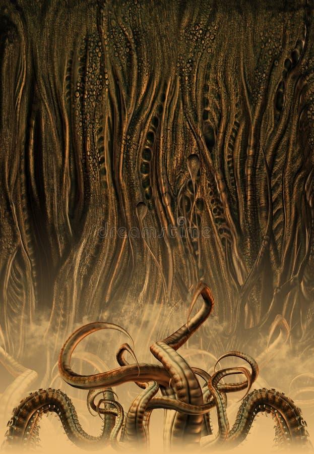 främmande varelsemiljö royaltyfri illustrationer