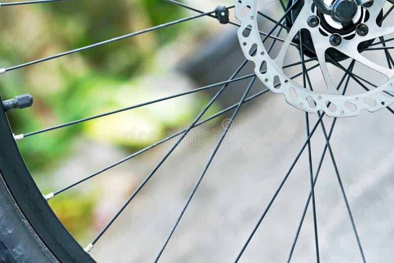 Främre diskettbromsar för mountainbike arkivfoton