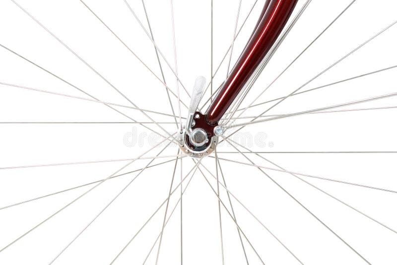 främre ekerhjul för cykel royaltyfria bilder