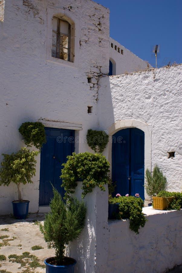 främre grek för borggård arkivfoton