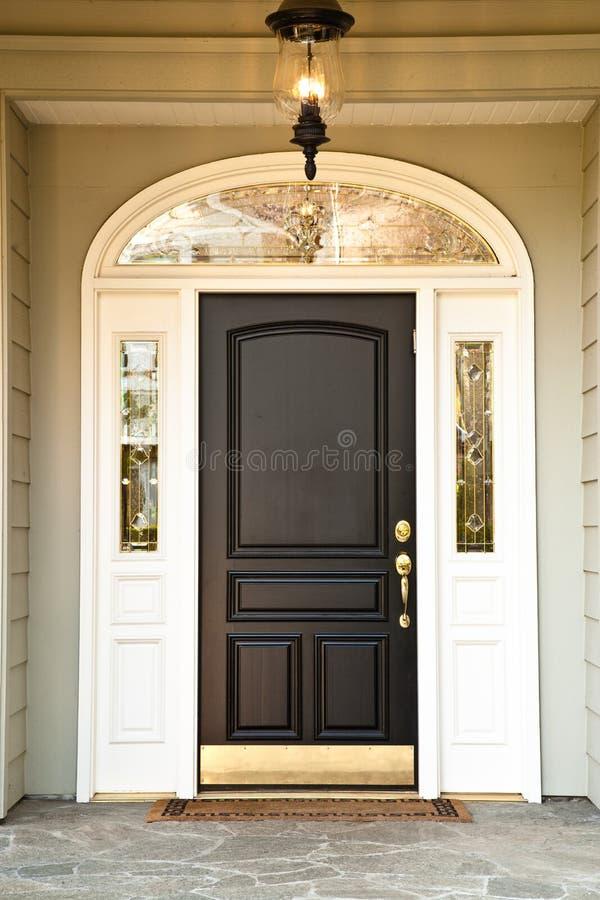 främre home exklusivt för dörr royaltyfri bild