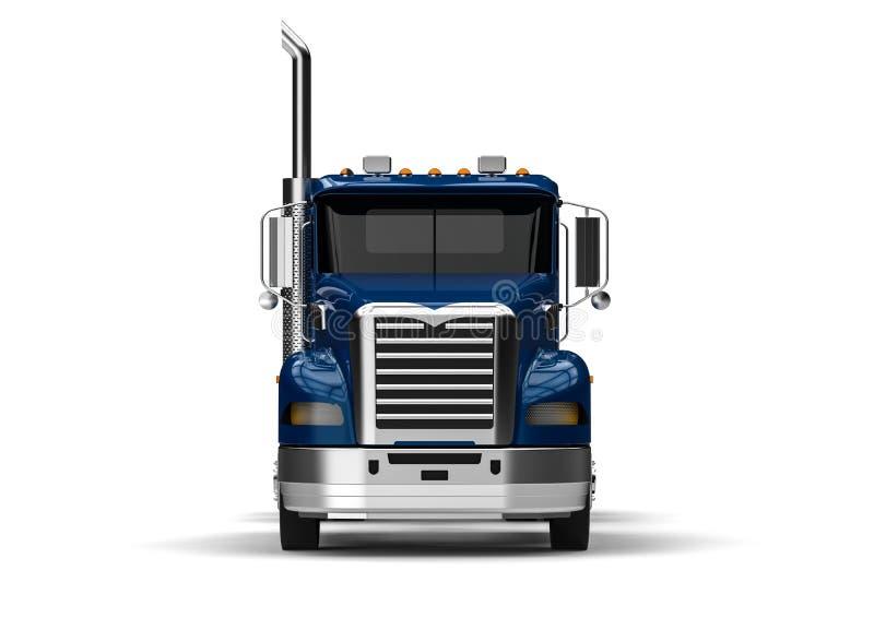 främre lastbilsikt royaltyfri illustrationer