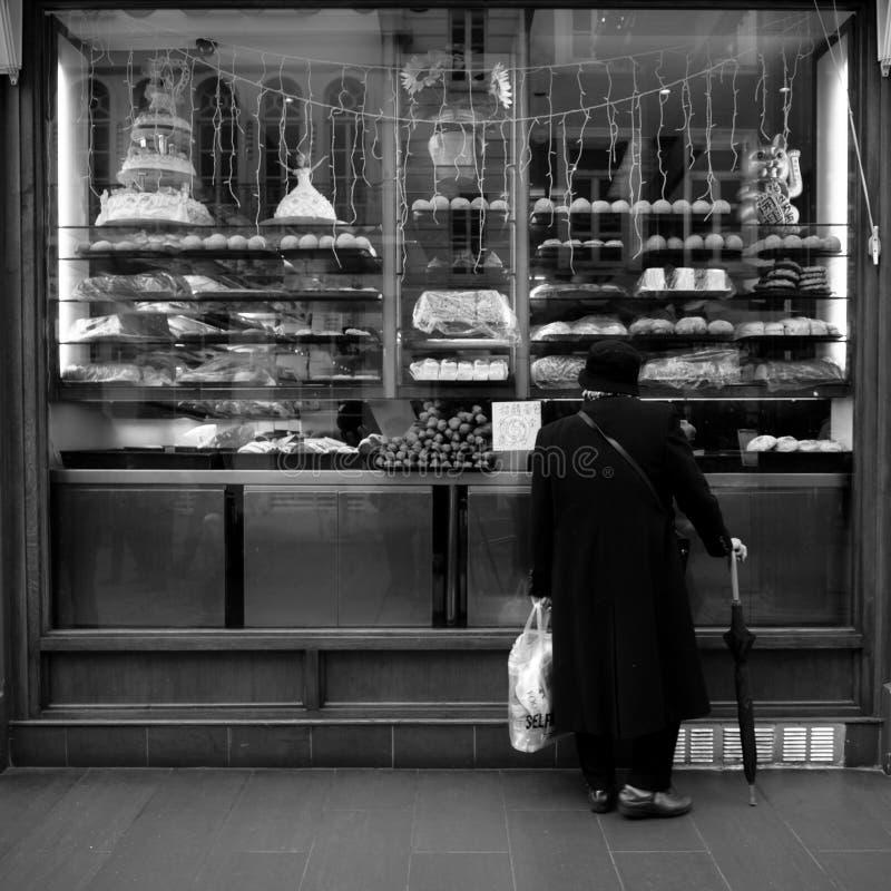 främre london shoppar arkivbilder