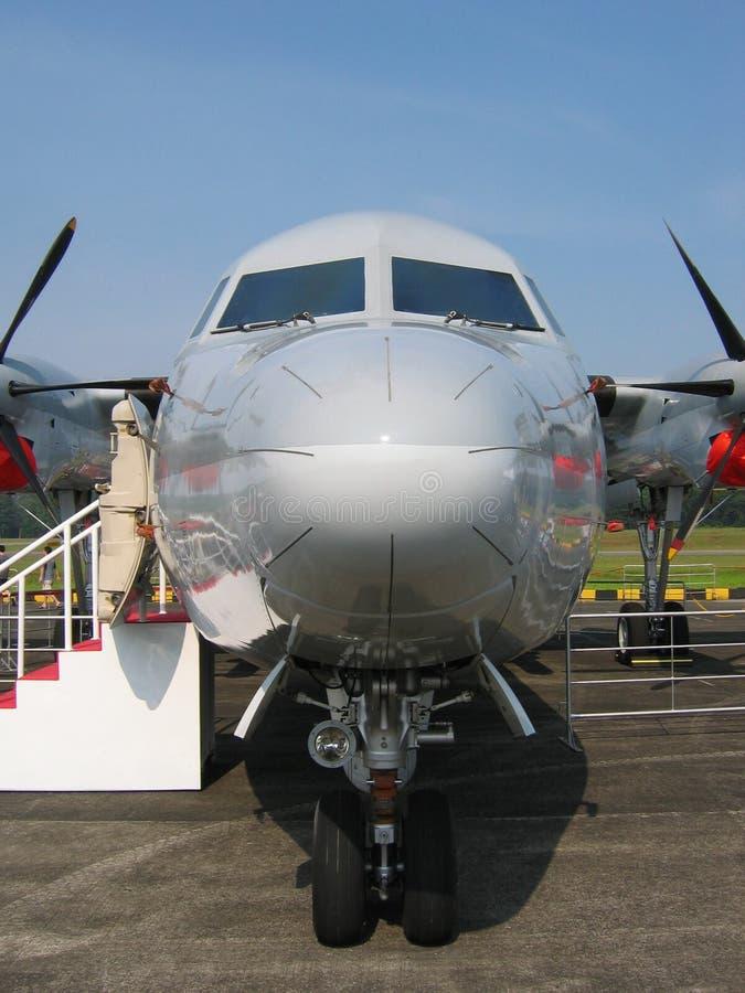 främre militär för flygplan royaltyfria bilder