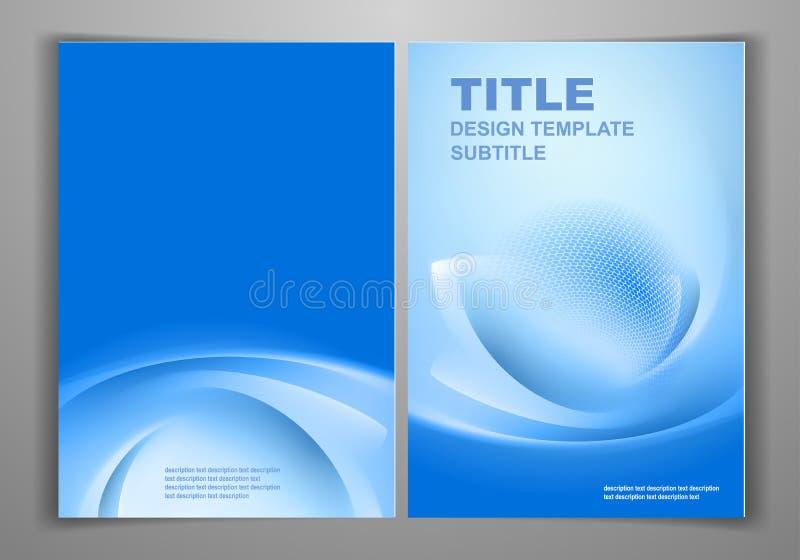 Främre och tillbaka reklambladmall för affär royaltyfri illustrationer