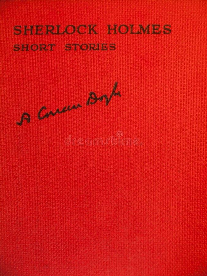 Främre räkning av åldrigt av korta berättelser för sherlockholmes arkivfoto