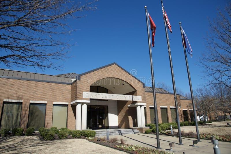 Främre sikt av Bartlett Tennessee City Hall Annex royaltyfria bilder