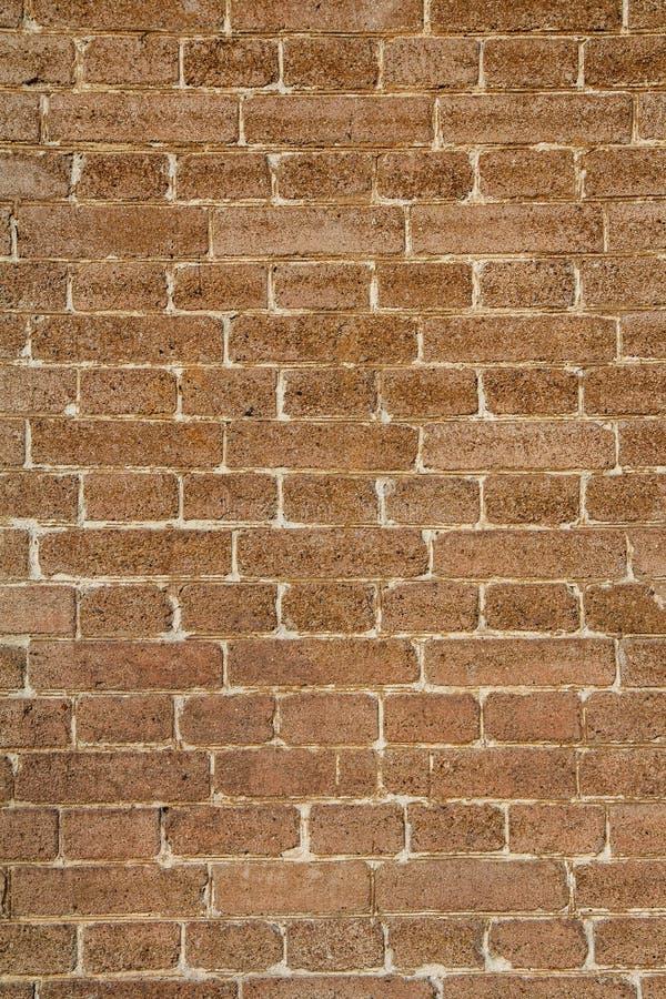 Främre sikt av tegelstenväggen arkivbilder