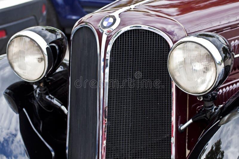 Främre sikt för antik BMW 315 bil, detalj royaltyfria bilder