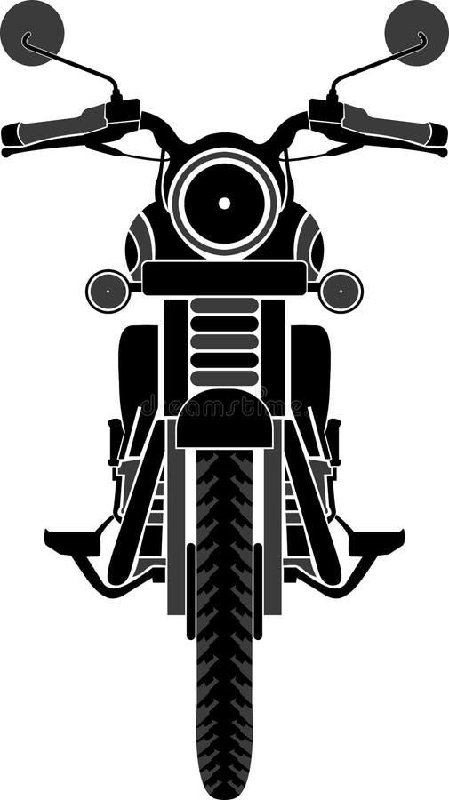 Främre sikt för cykel stock illustrationer