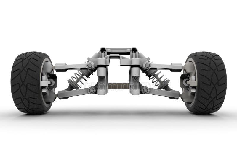 Främre upphängning för sportbil royaltyfri illustrationer