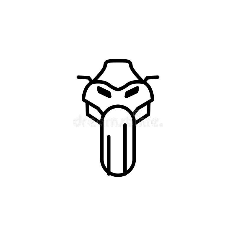 främst symbol för motorcykel Beståndsdel av mopeden för mobil begrepps- och rengöringsdukappsillustration Tunn linje symbol för w royaltyfri illustrationer